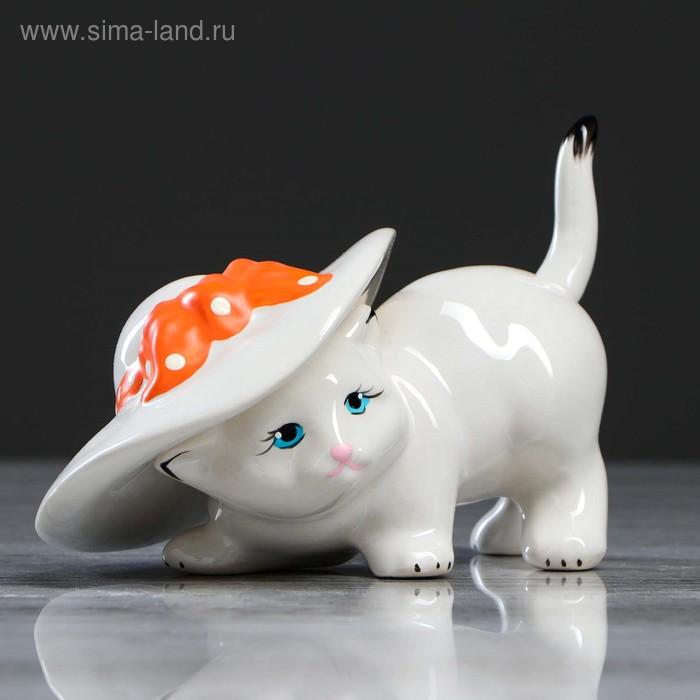 """Сувенир """"Кот в шляпе"""" белый"""