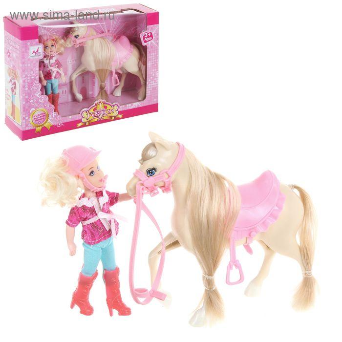 """Игровой набор """"Конная прогулка"""", с куклой и лошадкой"""