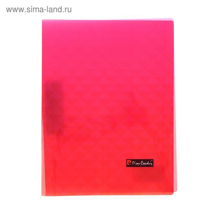 Папка с металлическим прижимом А4 Pierre Cardin Geometrie Pink, 0.5мм пластик