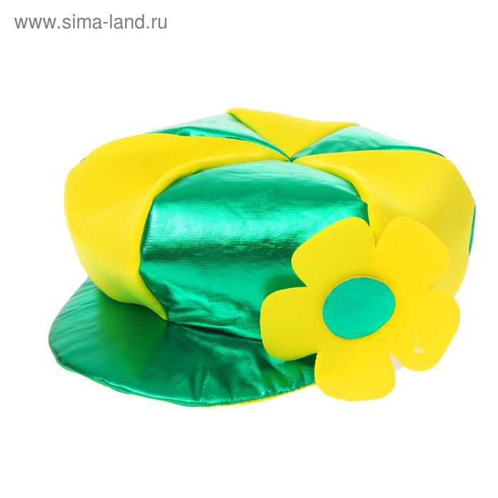 "Шляпа карнавальная ""Фуражка с цветком"""