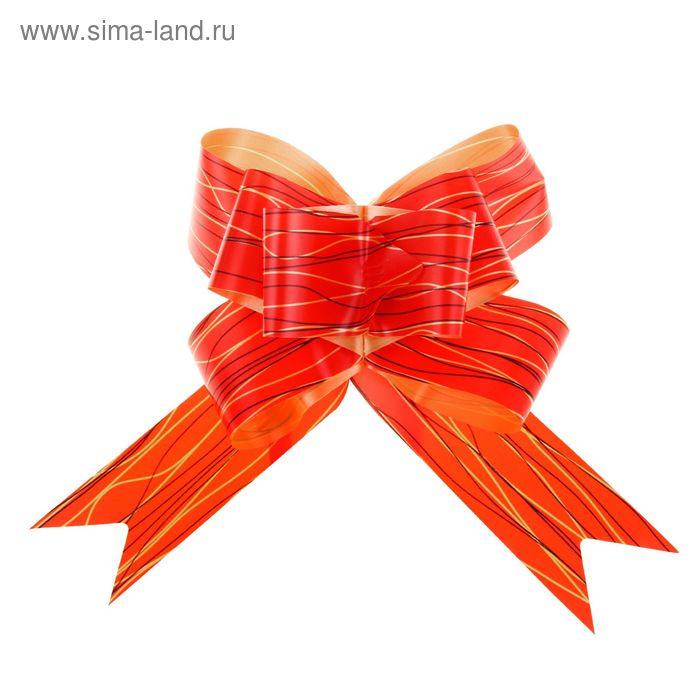 """Бант-бабочка №3 """"Линии"""", цвет красный"""