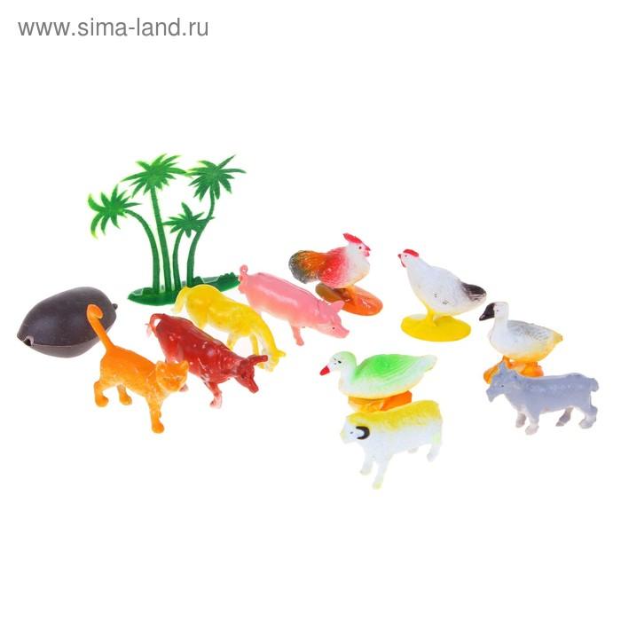 "Набор животных ""Ферма"", 10 предметов с аксессуарами"