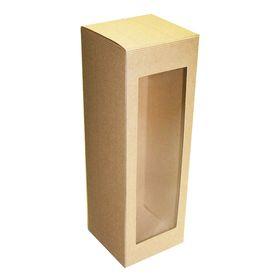 Коробка крафт из рифленого картона 12 х 12 х 36 см