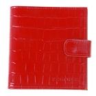 Визитница V-46-115, 2 ряда, 16 листов, цвет красный