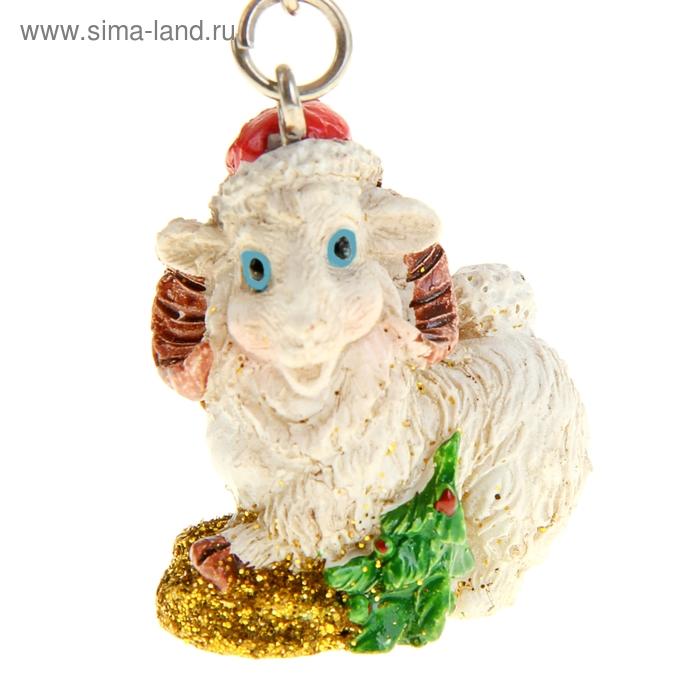 """Брелок """"Овца с ёлкой"""""""