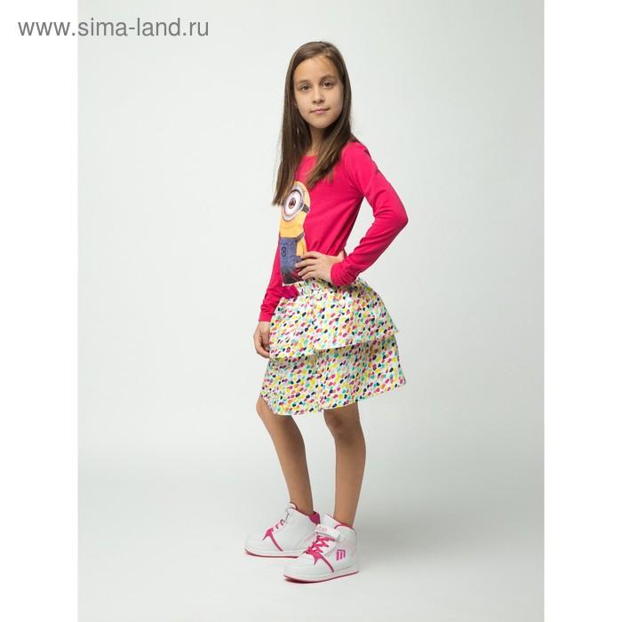 """Джемпер для девочки """"Миньоны"""", рост 116 см (64), цвет фуксия ZG 03410_Д"""