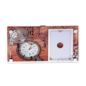 Часы настенно-настольные с фоторамкой '19 век', 17х32 см микс Ош