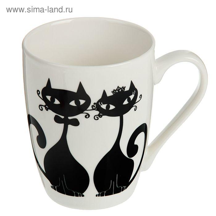 """Кружка 350 мл """"Влюбленные коты"""""""