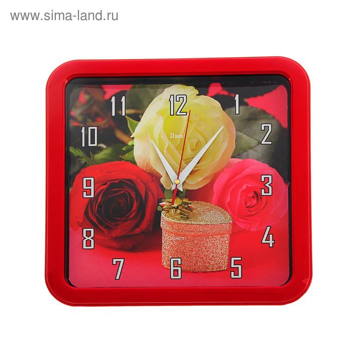 "Часы настенные квадратные ""Розы"", 30х30 см"