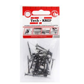 Саморезы по дереву TECH-KREP, ШСГД, 3.8х35 мм, оксид, крупный шаг, 30 шт. Ош