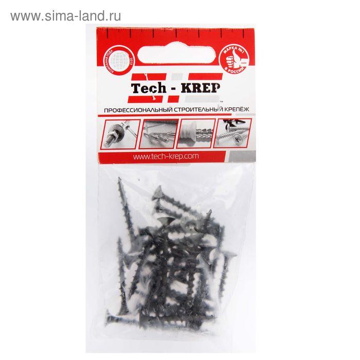 Саморезы по дереву TECH-KREP, ШСГД, 3.8х35 мм, оксид, крупный шаг, 30 шт.