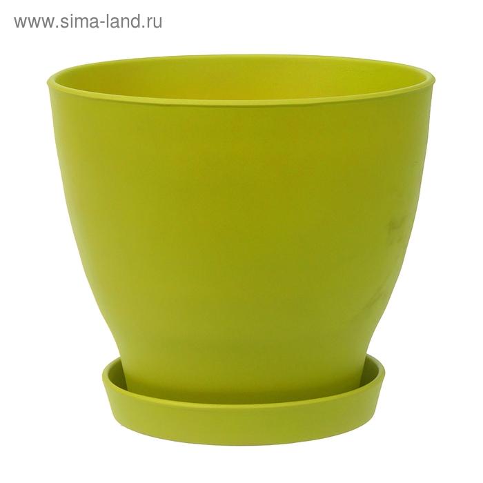"""Кашпо """"Ксения"""" глянец, зелёное, 15 л"""