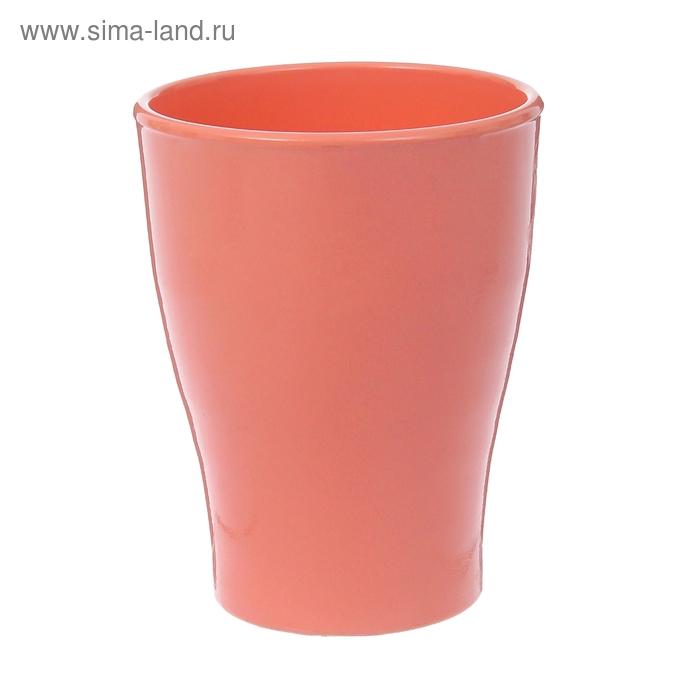 """Кашпо """"Ингрид"""" орхидейница, розовое, глянец, 1,3 л"""