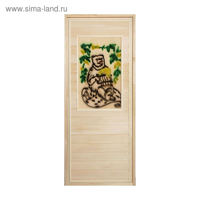 Дверь глухая с резной вставкой 2D №5, размер с коробкой 170*70 см, липа
