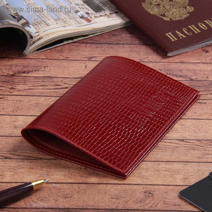 Обложка для паспорта, красная игуана