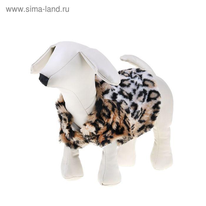 Шубка леопардовая для собак, (ДС=28 см, ОГ=38 см, ОШ=28 см)  L