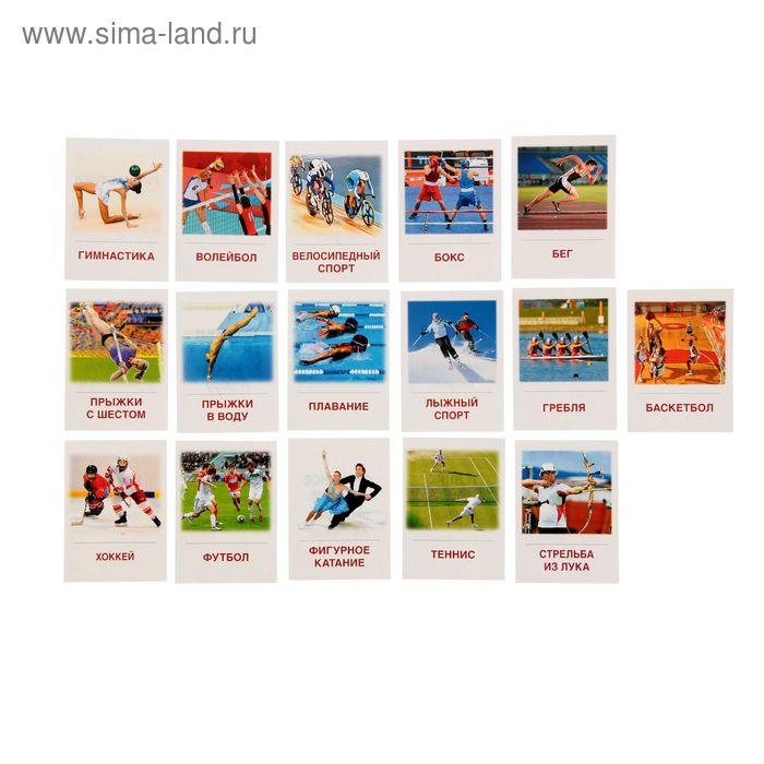 """Карточки обучающие """"Виды спорта"""" 16 шт. 6,3 х 8,7 см"""