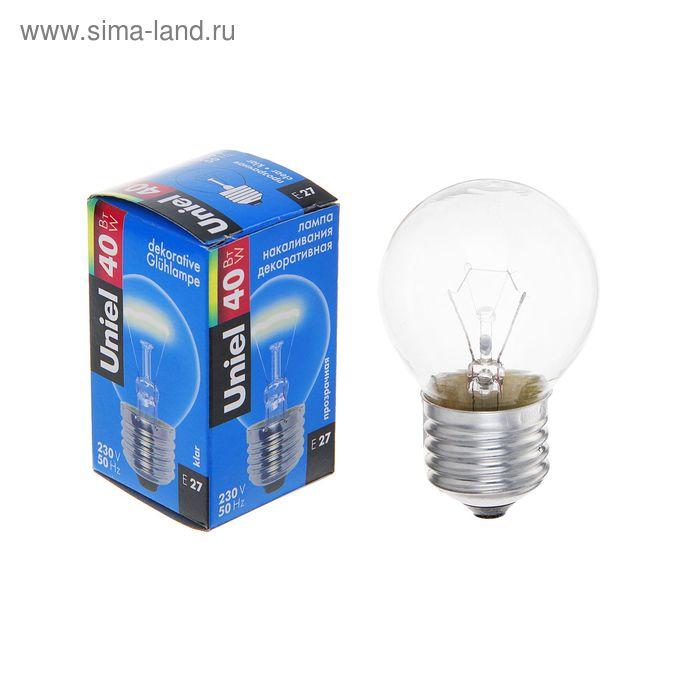 Лампа накаливания Uniel, Е27, 40 Вт, 230 В