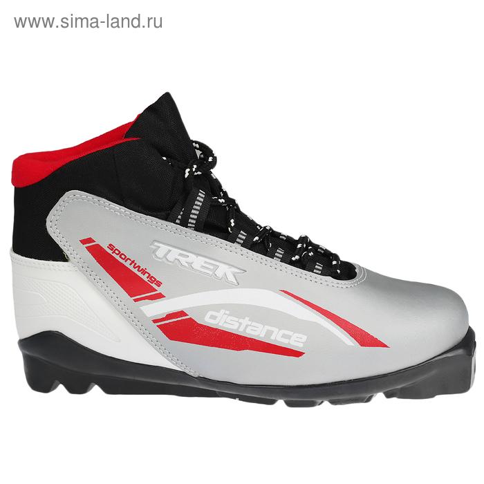 Ботинки лыжные TREK Distance SNS ИК (серебряный, лого красный) (р. 38)