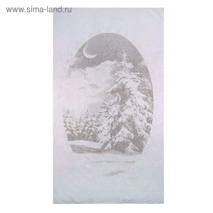 """Полотенце махровое """"Зимний пейзаж"""", размер 81х160 см"""
