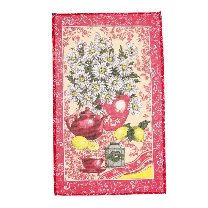 """Полотенце кухонное """"Collorista"""" Лимончики 47*70±2 см, 100% хлопок, рогожка, 162 г/м2"""