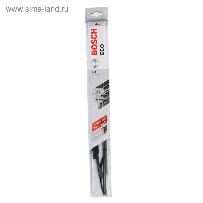 """Щетка стеклоочистителя Bosch Eco, 13.5""""/34 cм, каркасная, под крючок"""