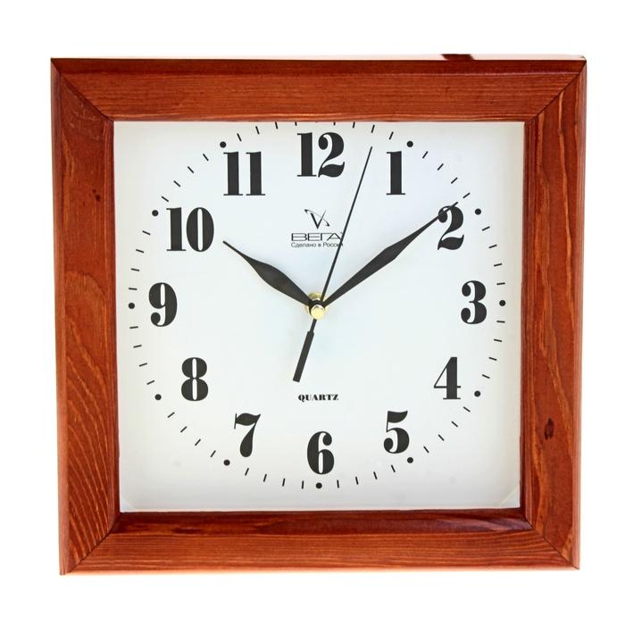 Часы настенные квадратные, классические, деревянные