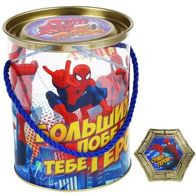 "Коробка-тубус подарочная ""Больших побед"", Человек - Паук, + бонус"
