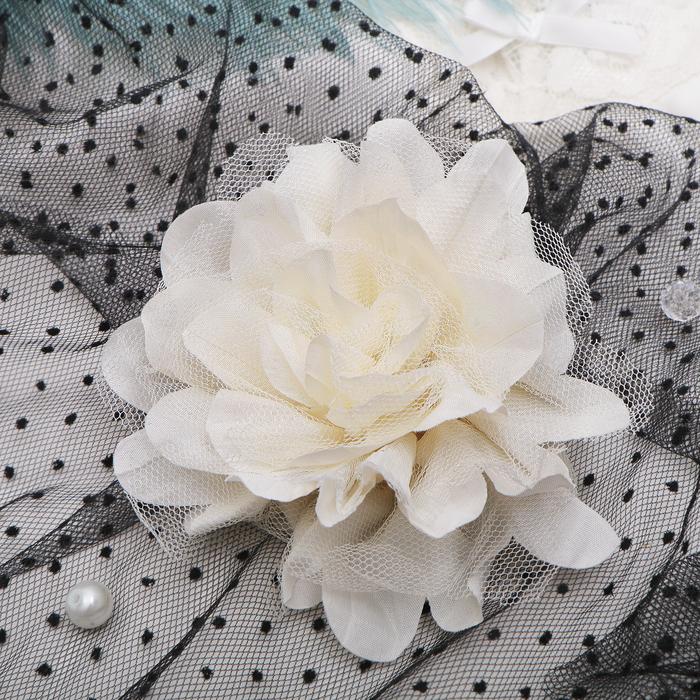 """Брошь """"Цветок дива"""" цвет молочный"""