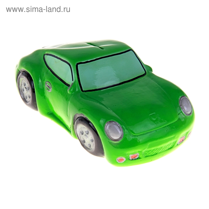 """Копилка """"Гоночная машина"""" зелёная"""
