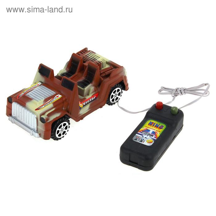 """Машина """"Военный джип"""", работает от батареек, на дистанционном управлении, МИКС"""