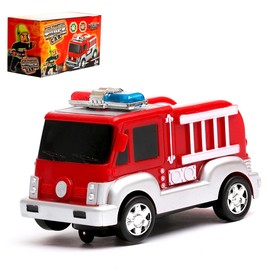 """Машина """"Пожарная"""", работает от батареек, световые и звуковые эффекты"""