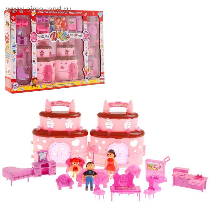 """Дом для кукол """"Торт"""", с фигурками и аксессуарами"""