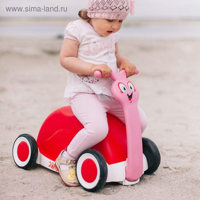 """Толокар """"Улитка"""" с корзиной для игрушек, цвета МИКС"""