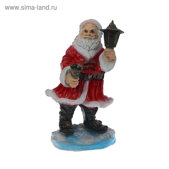 """Садовая фигура """"Дед Мороз с фонарём"""""""