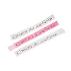 Ленты на капот «Совет да любовь» с резинками, 3 шт., 150 х 5 см, шёлк, белая, розовая