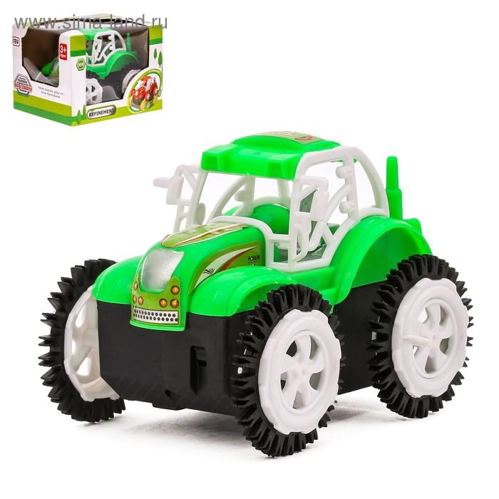 """Трактор-перевёртыш """"Фермер"""", работает от батареек, цвета МИКС"""