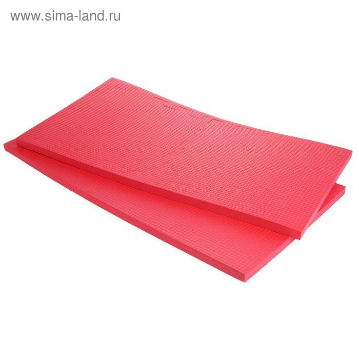 Детский коврик-пазл (мягкий), 4 элемента 50 х 50 х 2,5 см, цвет красный