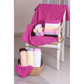 """Полотенце махровое """"Этель"""" Серпенте темно-розовый 50*90 см, 100% хлопок, 400гр/м2"""
