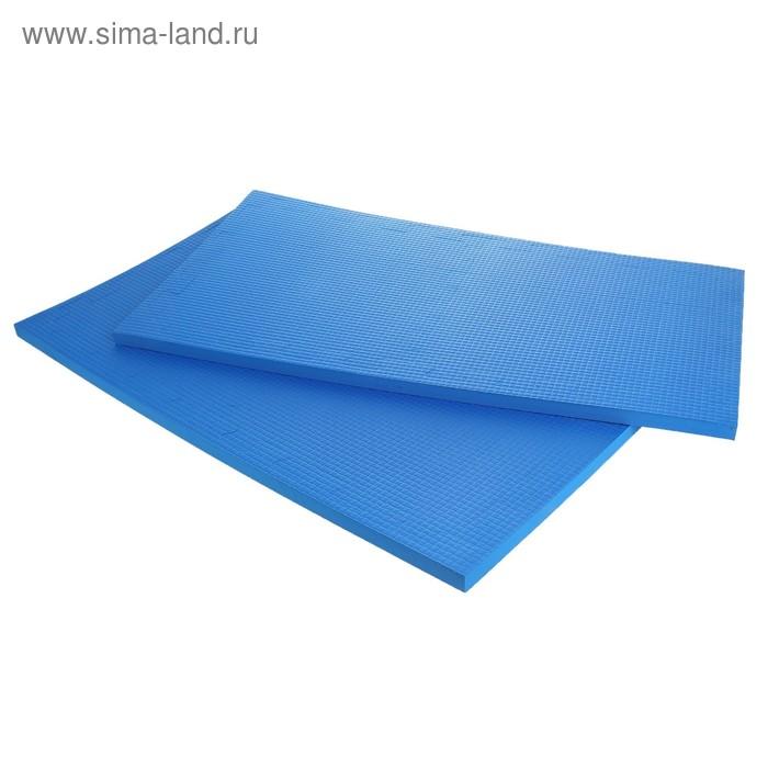 Детский коврик-пазл (мягкий), 4 элемента 50 х 50 х 2,5 см, цвет синий