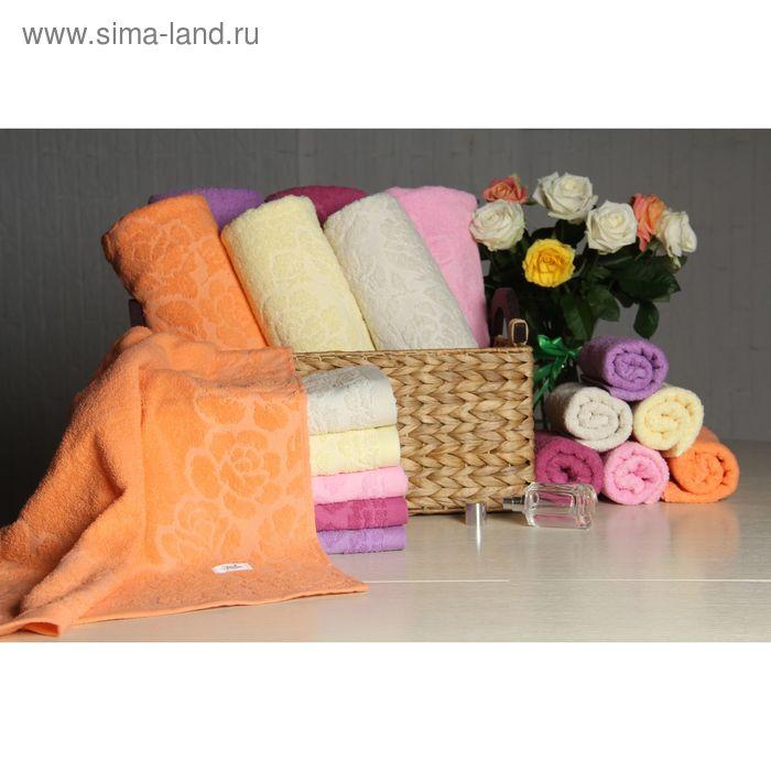 """Полотенце махровое """"Этель"""" Флоренция оранжевый 70*140 см, 100% хлопок, 400гр/м2"""
