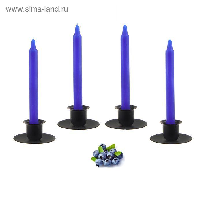 Свеча восковая (набор 4 шт), аромат черника