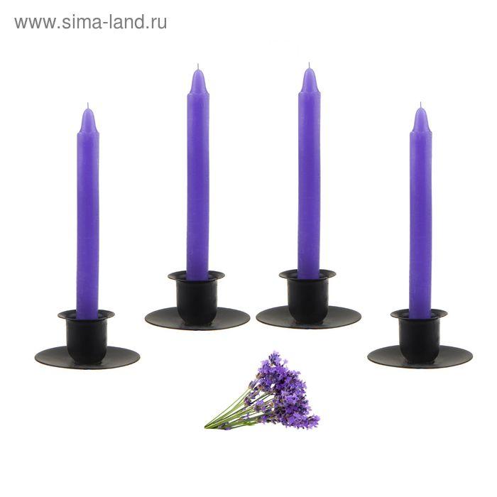 Свеча восковая (набор 4 шт), аромат лаванда