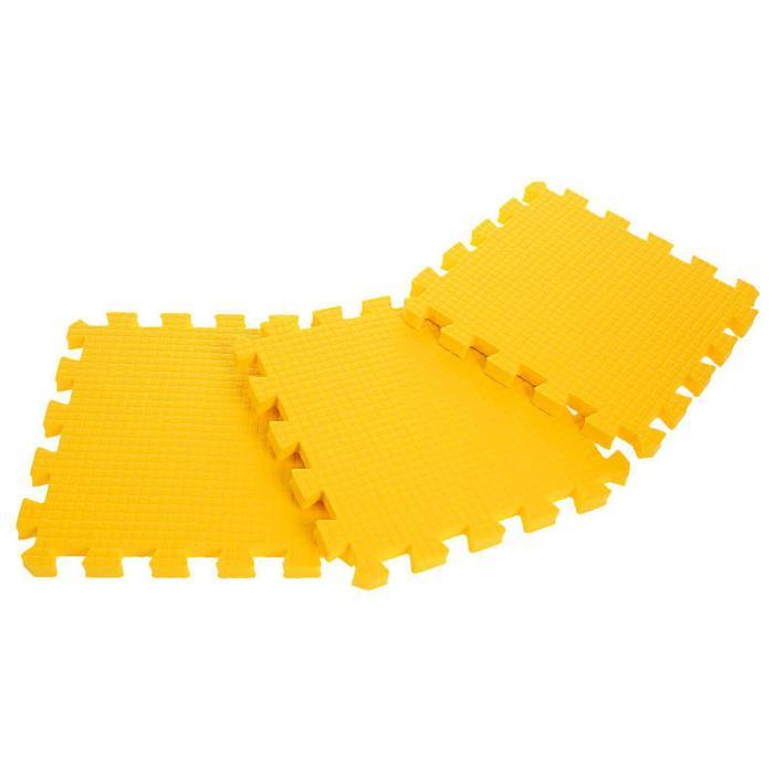 Детский коврик-пазл (мягкий), 9 элементов, толщина 1,8 см, цвет жёлтый