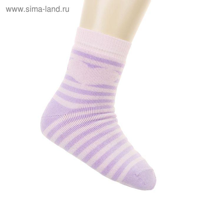 Носки детские плюшевые ПФС102-2541, цвет сирень, р-р 20-22