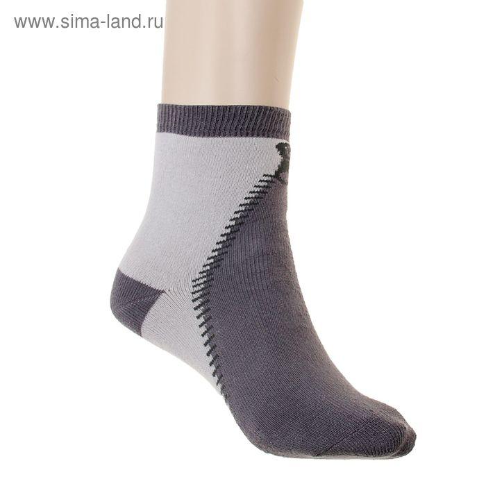 Носки детские плюшевые, размер 18-20, цвет светло-серый ПФС102-2540