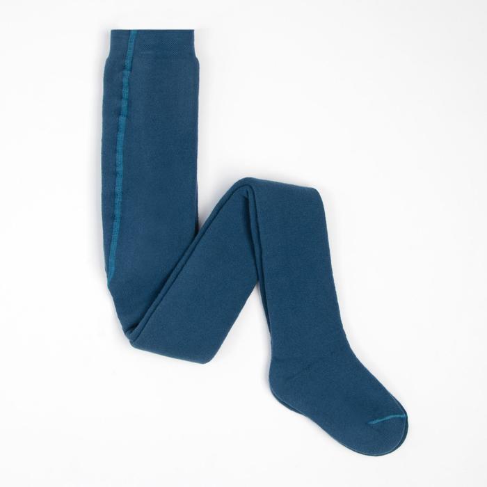Колготки детские плюшевые, рост 122-128 см, цвет джинсовый ПФС70