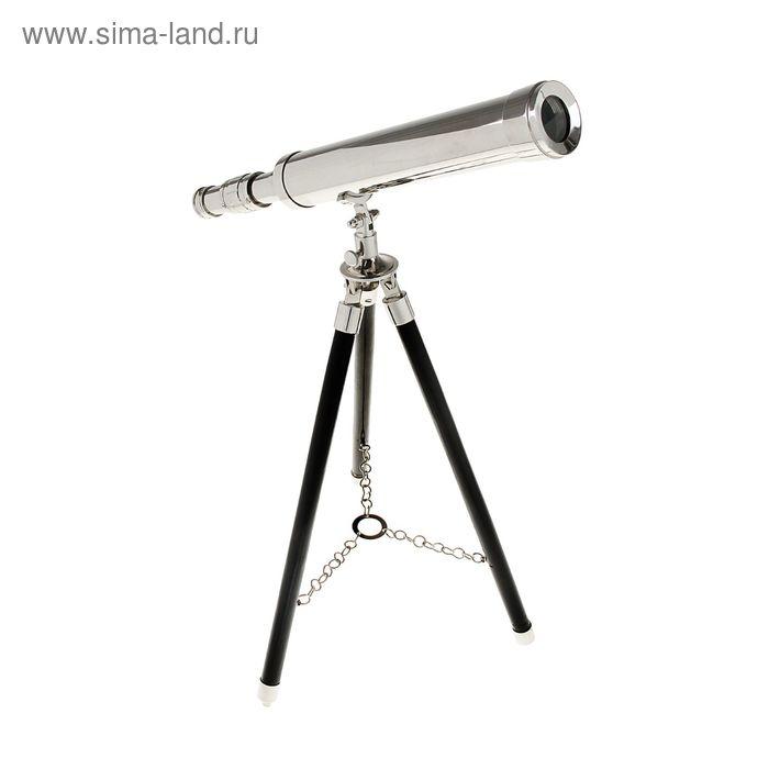 """Сувенирная подзорная труба на подставке """"Серебро"""", линза 4х"""