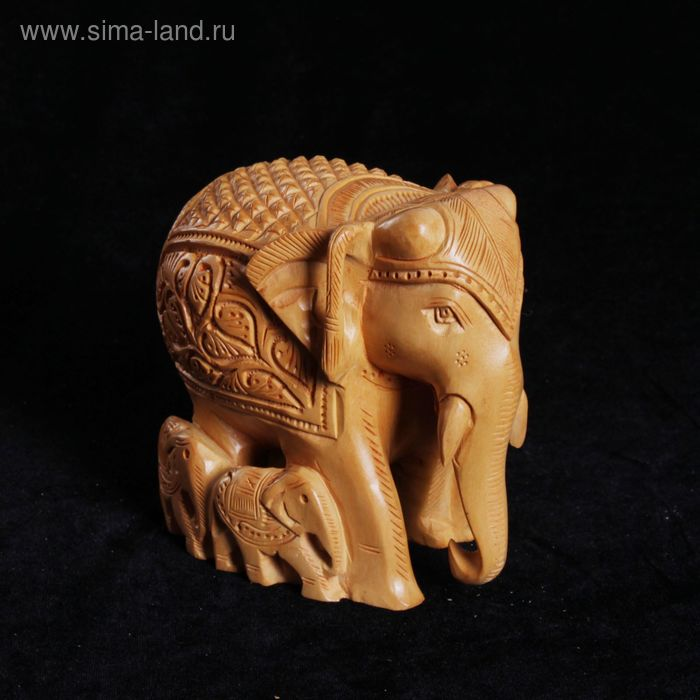 """Сувенир """"Семья слонов"""" резной"""