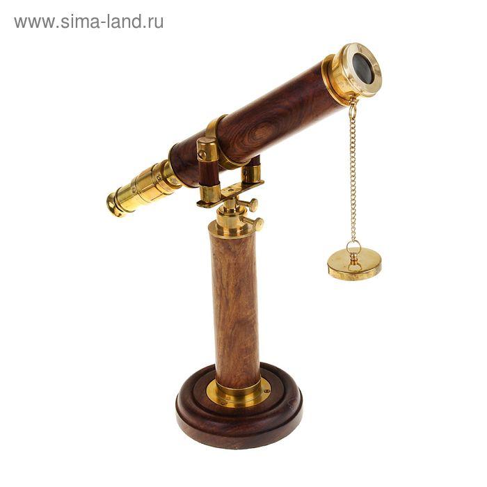 """Сувенирная подзорная труба на подставке """"Монолит"""", линза 4х"""